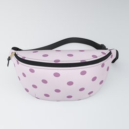 Pink Polka Dots Chic Vintage Pattern from the 60's Retro Style Polka Dotted Shabby Girly Design Glam Fanny Pack