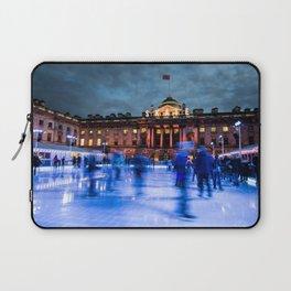 Ice Skating At Somerset House, London Laptop Sleeve
