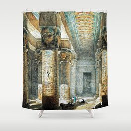 Tempel Dendera Shower Curtain