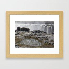 Selfoss waterfall in Iceland - nature landscape Framed Art Print
