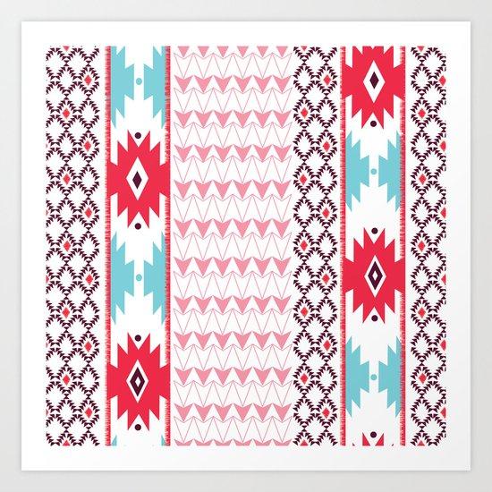 Navajo Glam Art Print