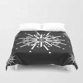"""Snowflakes - The Didot """"j"""" Project Duvet Cover"""