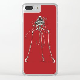 Martian Tripod Queen: Mars Red Clear iPhone Case
