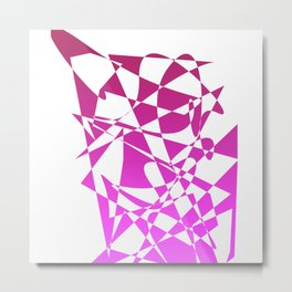 geometical pink abstract shapes Metal Print