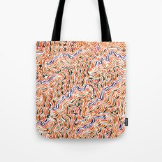 red topography Tote Bag