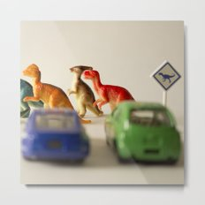 Dinosaurs crossing Metal Print