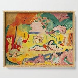 Henri Matisse - Le bonheur de Vivre (The Joy of Life) portrait painting Serving Tray