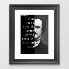 Edgar Allan Poe - word ard Framed Art Print