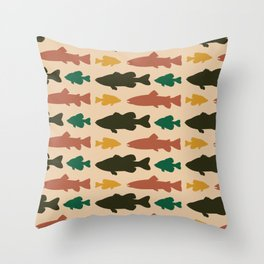 Simply Fresh Fish Throw Pillow