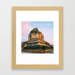 Buddhist Temple in Chiang Mai Fine Art Print Framed Art Print