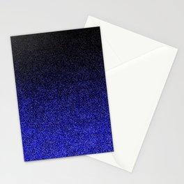 Blue & Black Glitter Gradient Stationery Cards