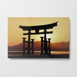 Miyajima Torii Gate Metal Print