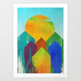 The West Aglow Art Print