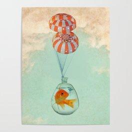 parachute goldfish Poster