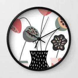 Lotus Pods Wall Clock