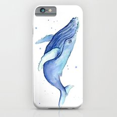 Humpback Whale Watercolor Animal Painting Nursery Animals iPhone 6s Slim Case