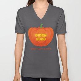 Biden 2020 Now That's Scary Republican Jack O' Lantern print Unisex V-Neck