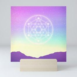 Sacred Geometry (Sacred Merkaba) Mini Art Print