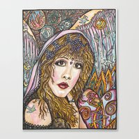 stevie nicks Canvas Prints featuring BLAME IT ON MY WILD HEART, STEVIE NICKS by Dream A Little Designs