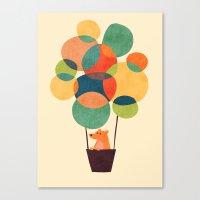 hot air balloon Canvas Prints featuring Whimsical Hot Air Balloon by Picomodi