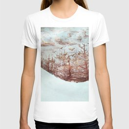 Tossed by the Wind metallic watercolour by CheyAnne Sexton T-shirt