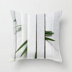 Green behind Throw Pillow
