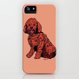 Labradoodle Illustration iPhone Case