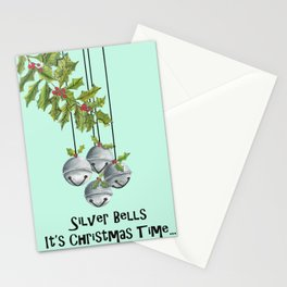 Silver Bells Stationery Cards