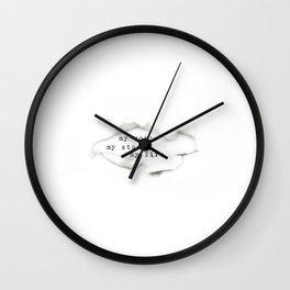 my voice, my story, my life Wall Clock
