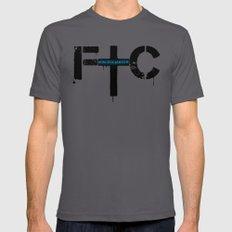 FindChaos - Logo Mens Fitted Tee Asphalt LARGE