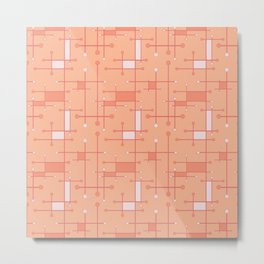 Intersecting Lines in Peach and Pink Metal Print