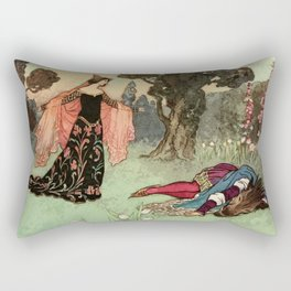 Beauty and the beast scene Rectangular Pillow