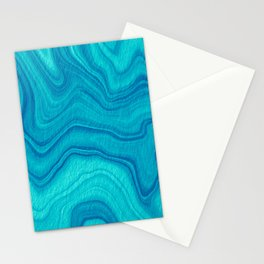 Turquoise Abstract Stationery Cards