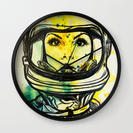 Space Woman Wall Clock