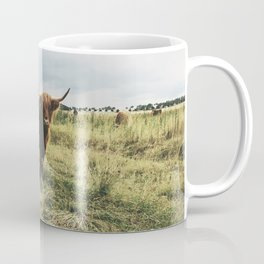 Scottish Highland In The Field Coffee Mug