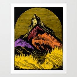 The Acid Peak of Tempests Art Print