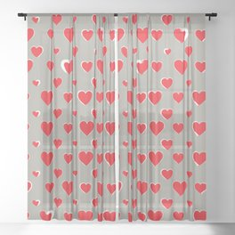 Made for you my heart 32 Sheer Curtain