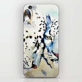Snow Leopards Watercolor (Color) iPhone Skin