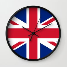 UK FLAG - The Union Jack Authentic color and 1:2 scale  Wall Clock