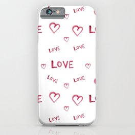 Beautiful watercolor drawing in the shape of a heart iPhone Case