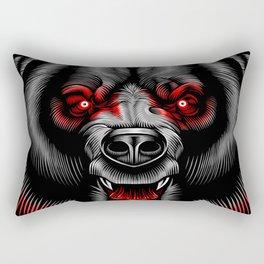Albanian Bear Rectangular Pillow