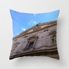 Upward Cross, Chiesa di San Luigi dei francesi Throw Pillow