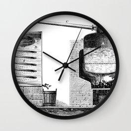 Alambic à double fond pour la distillation des marcs de raisin Wall Clock