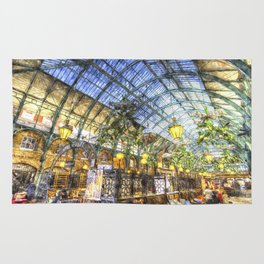 The Apple Market Covent Garden London Watercolour Rug