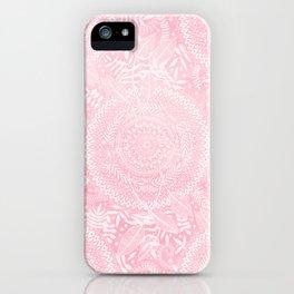 Medallion Pattern in Blush Pink iPhone Case