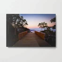 Sitting on the dock of the cliff Metal Print