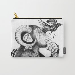 Pondering Monkey Carry-All Pouch
