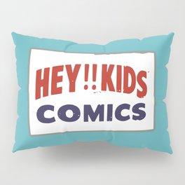 Hey Kids! Vintage Comic Spinner Rack Sign Pillow Sham