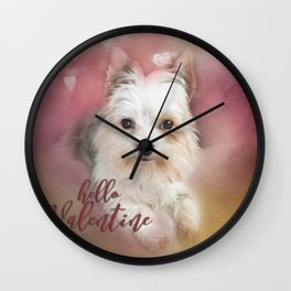 Hello Valentine Wall Clock