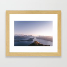 Top of the world - Wanaka Roys Peak Framed Art Print